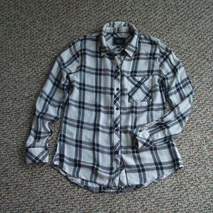 Rails Hunter navy white plaid long sleeve shirt XS